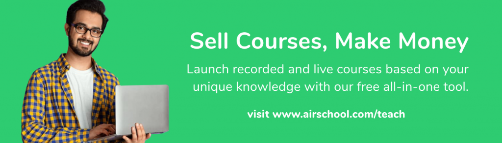 airschool sell a course and earn money