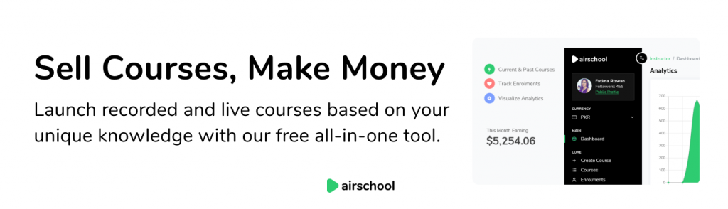 online teaching make money on airschool with free tool