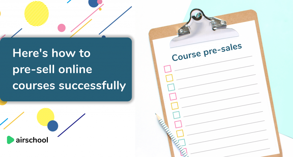 pre-sell online courses