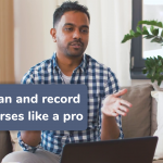 plan and record online courses