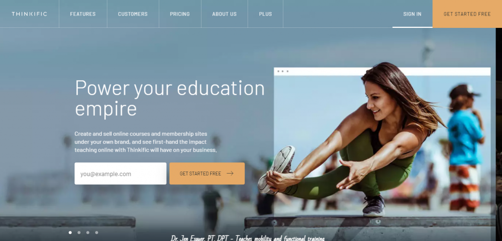 thinkific for online course creation