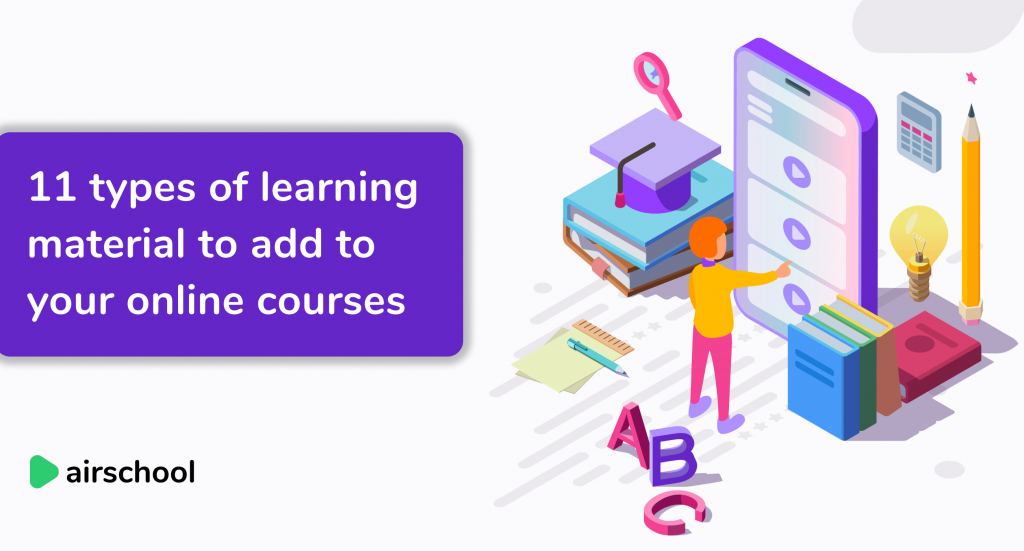 types of learning material for courses